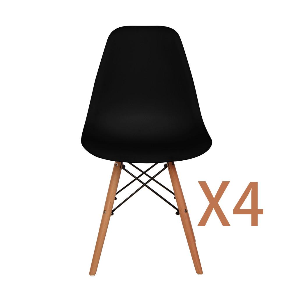 Modern Furniture 1x White Rectangle Dining Table 4x. Modern Furniture 1x White Rectangle Dining Table   4x Black White