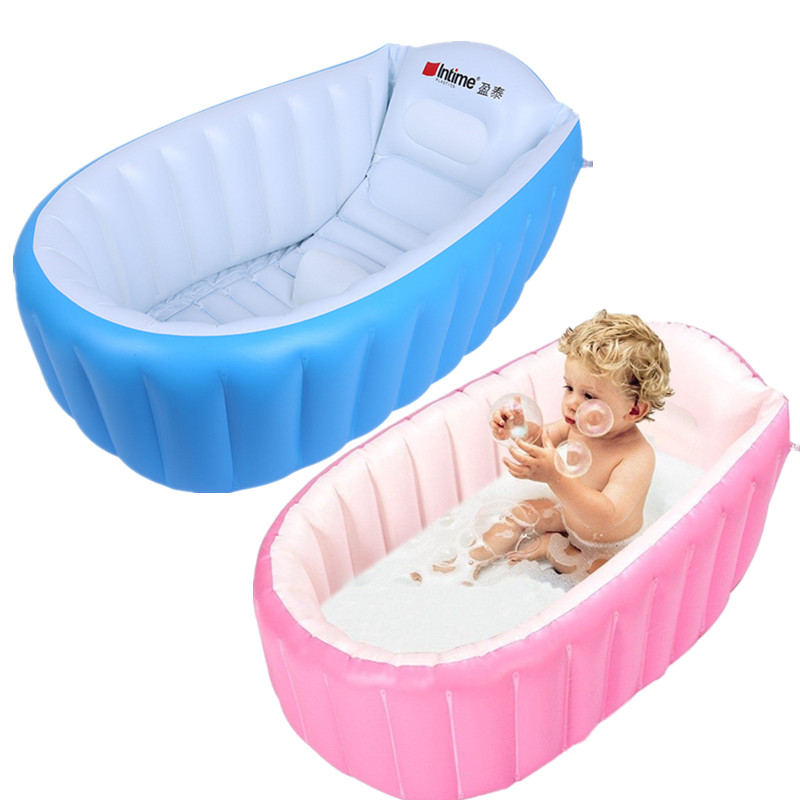 1x Portable Baby/Kid/Toddler Inflatable Bathtub Newborn Thick Bath ...