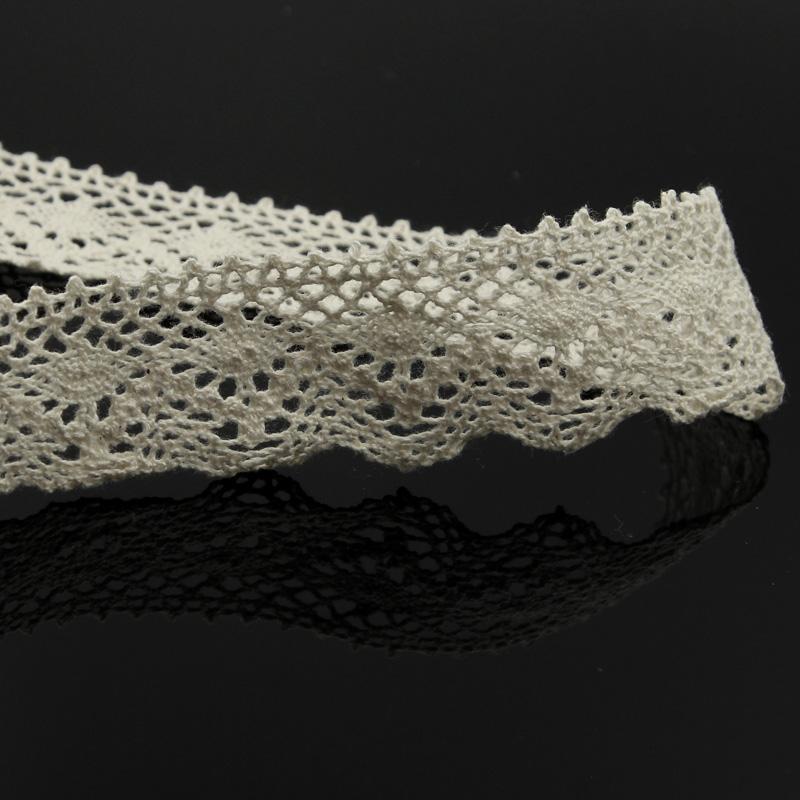 5//10Yd Cotton Crochet Lace Trim Wedding Bridal Dress Belt DIY Decor Sewing Craft