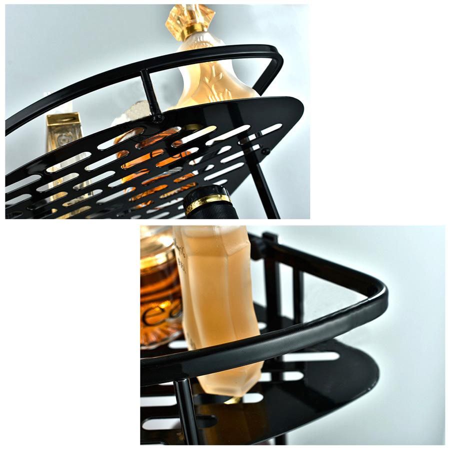 duschregal badregal k chenregal eckregal drahtregal wandregal mit 2 f chern neu ebay. Black Bedroom Furniture Sets. Home Design Ideas