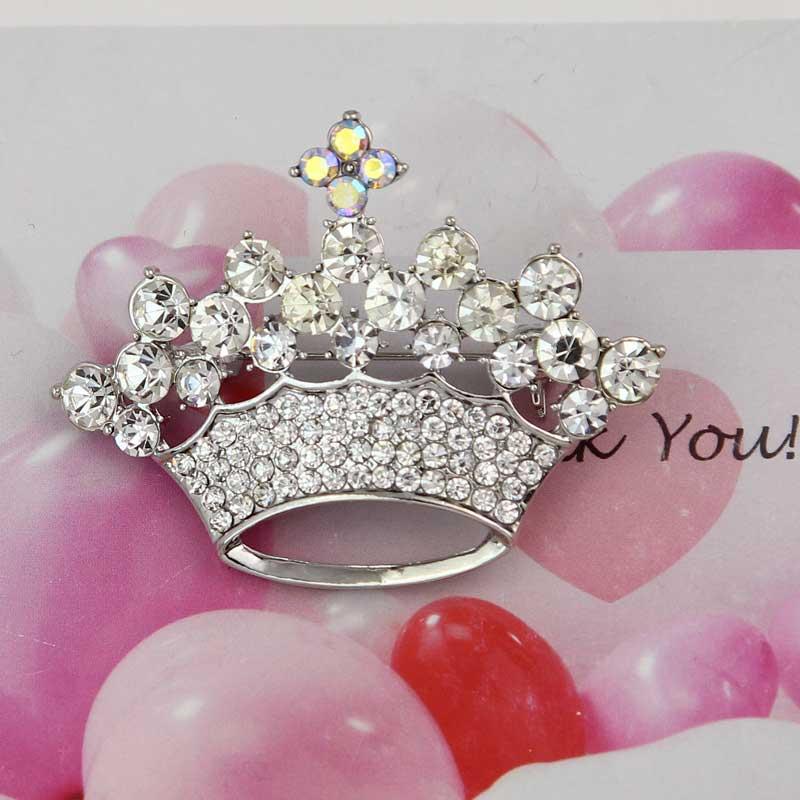 Pin By Karen Crawn On Home Decor: Fashion Woman Rhinestone Crown Shape Silver Gold Brooch