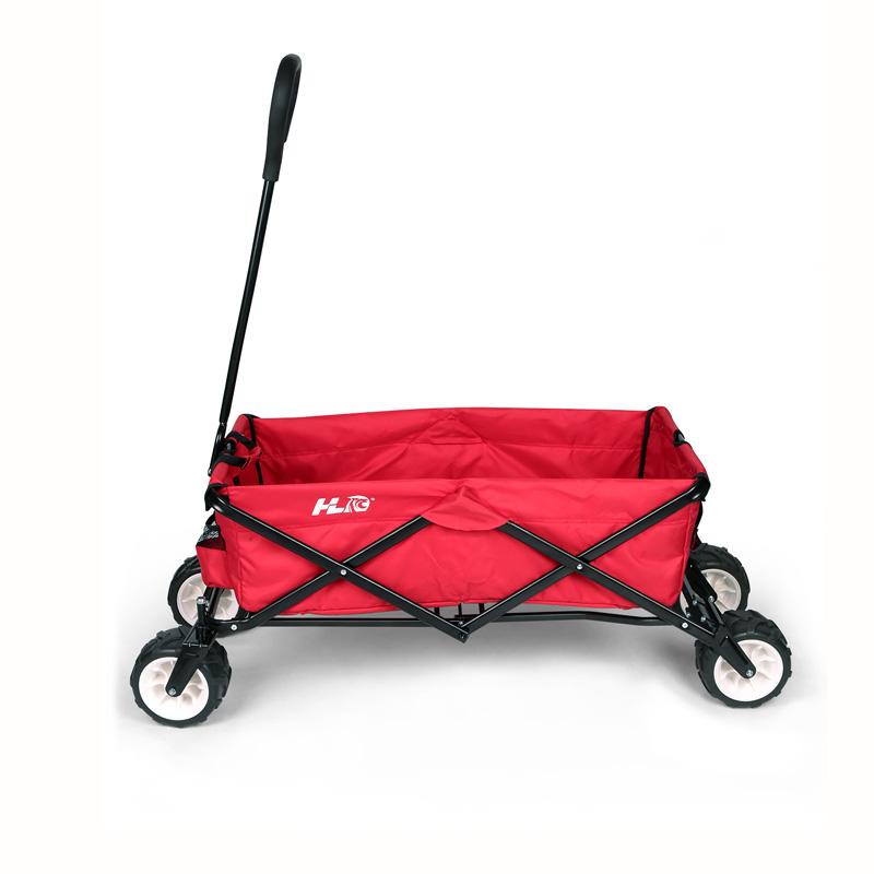Collapsible Folding Wagon Cart Garden Buggy Shopping Beach