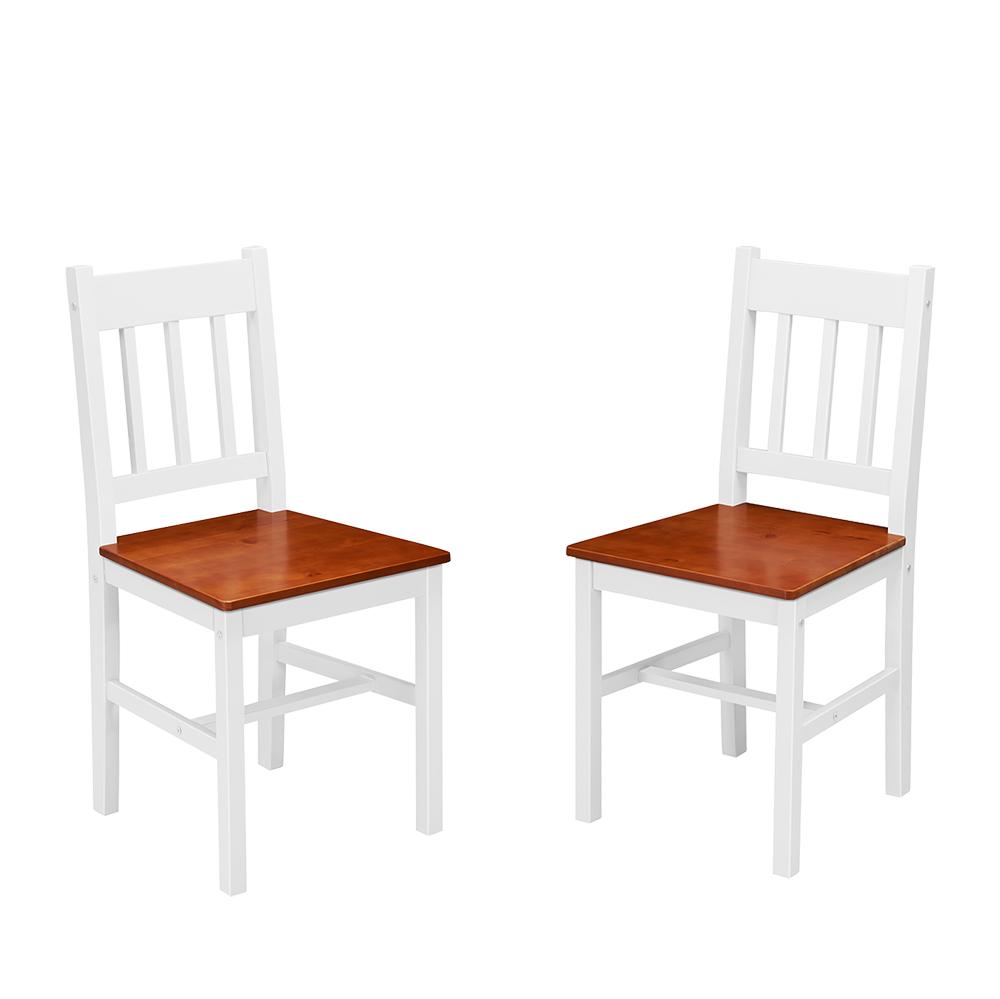 Esstisch Tischgruppe Essgruppe Set mit 2 Stühle weiß Land Massiv ...