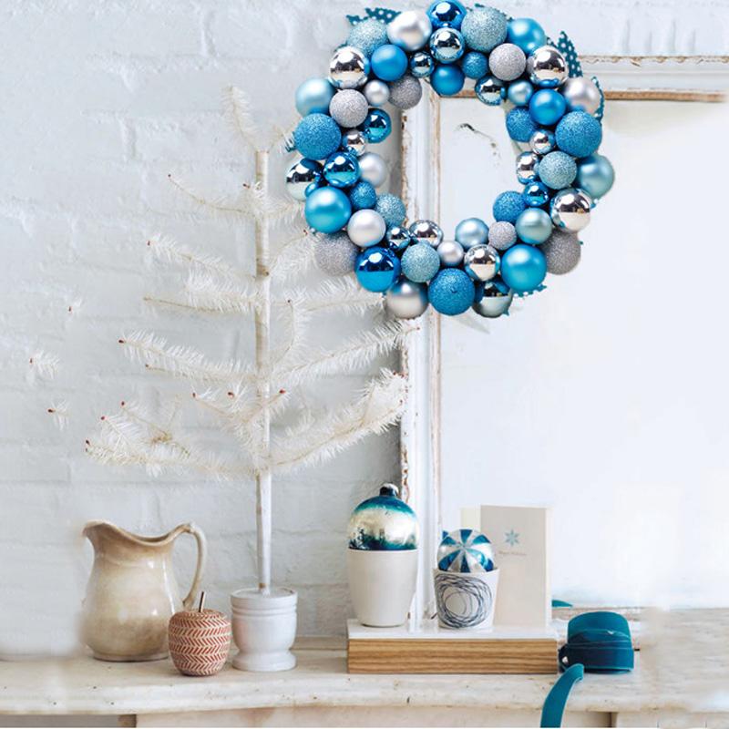 Christmas Ball Wreaths Door Windows Wall Hanging Xmas Ornaments Garland Decor
