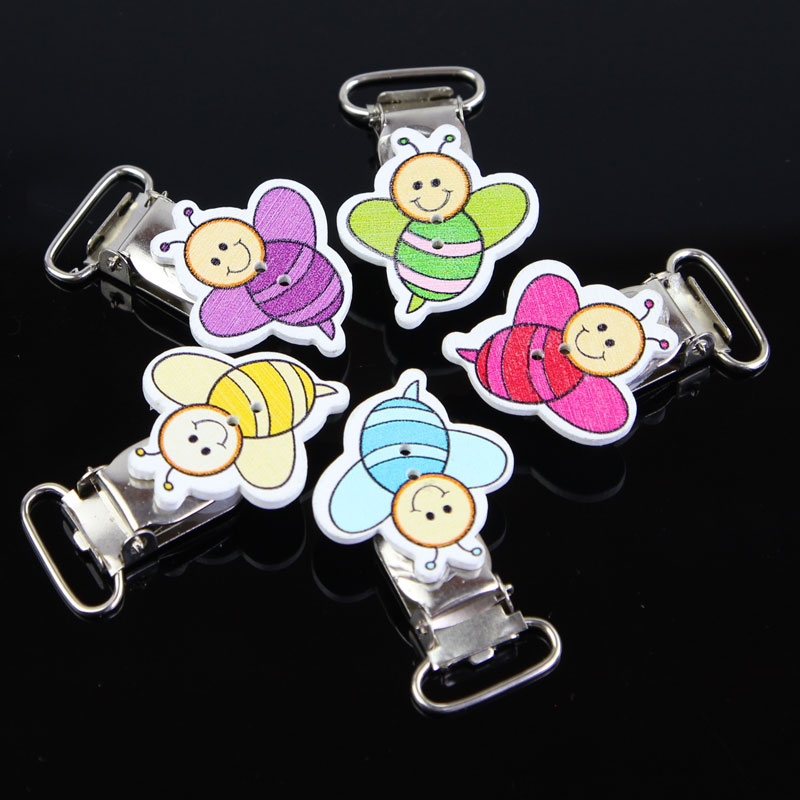 Multi-purpose Craft Supplies 10 X Schnullerkettenclip Babyclip Holzclip Tier Liebe Baby Muster Schnullerclip