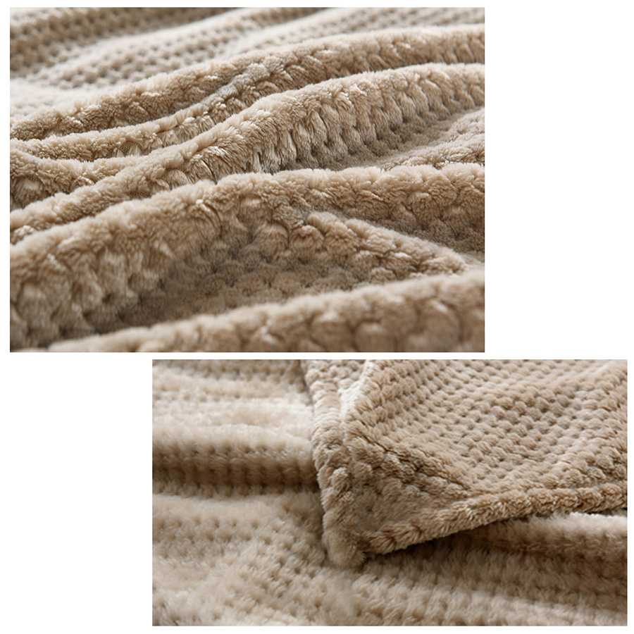 NEW Soft Warm Solid Micro Plush Fleece Blanket Throw Rug