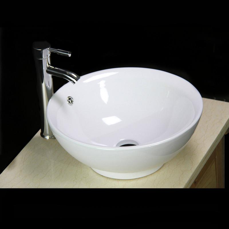 neu wei keramik rund waschschale waschtisch waschbecken. Black Bedroom Furniture Sets. Home Design Ideas