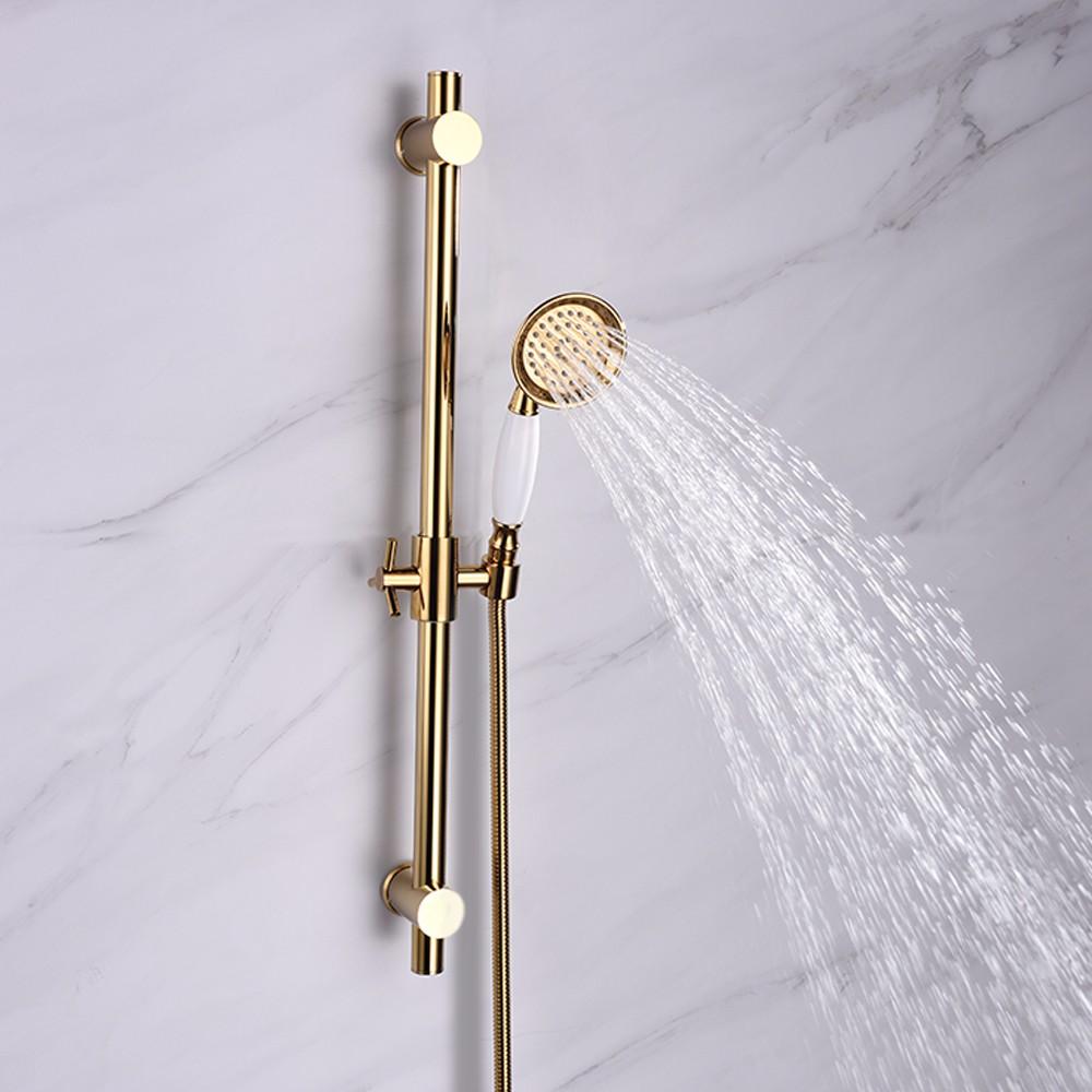 Bath Brass Shower Sliding Bar with Height Adjustable W/ Shower Head ...