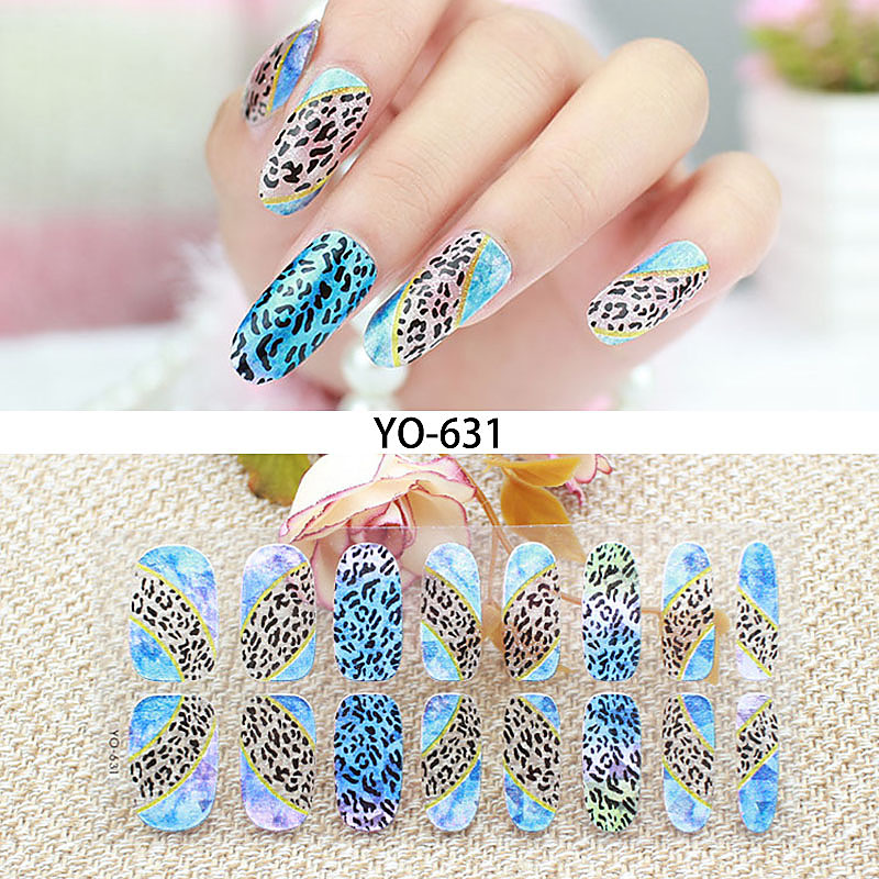 Glitter Full Cover Nail Art Transparent Nail Foil for Lady Manicure ...