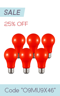 Red A19 Bulb