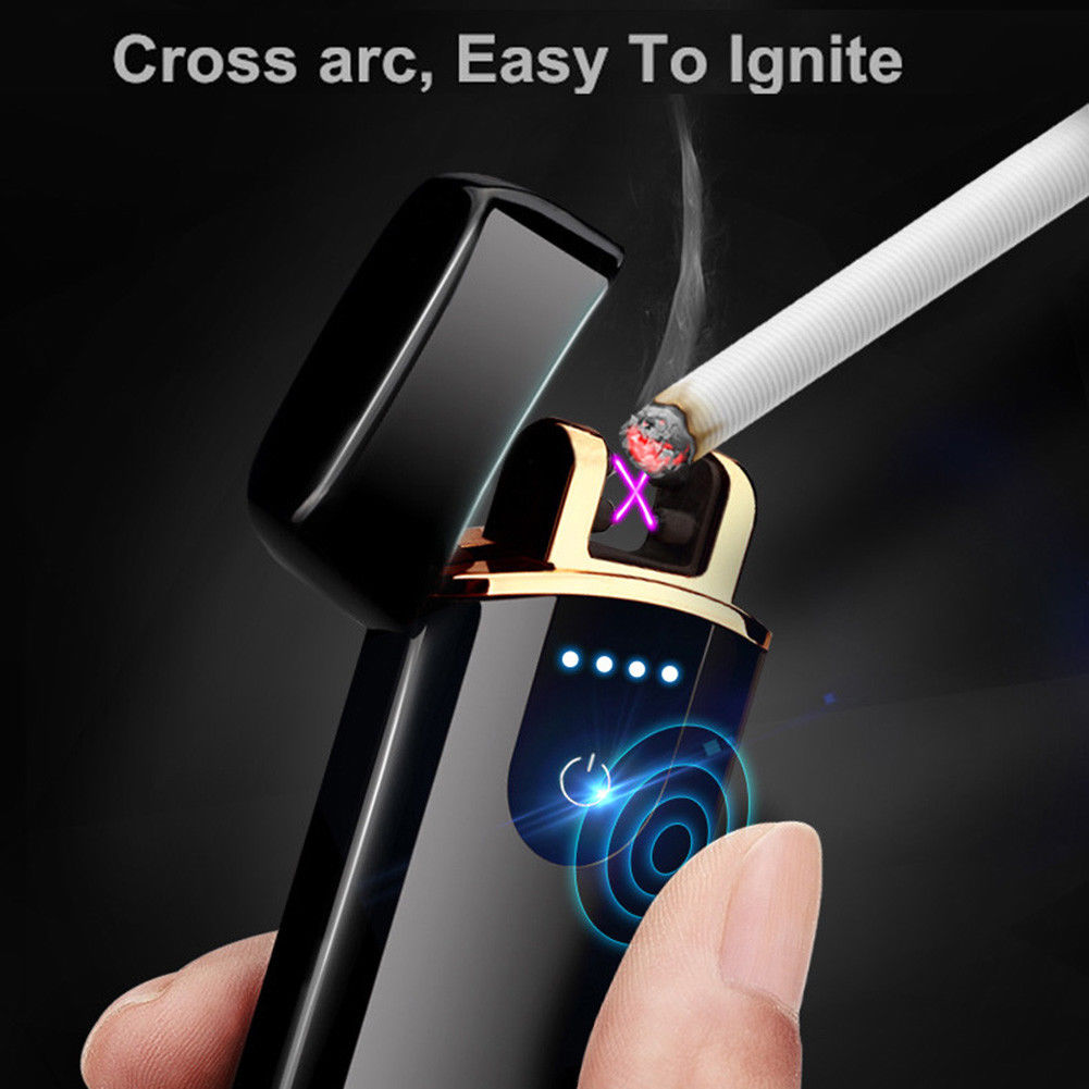 Smart Touch Sensor USB Rechargeable Double Flameless Plasma Electric Lighter