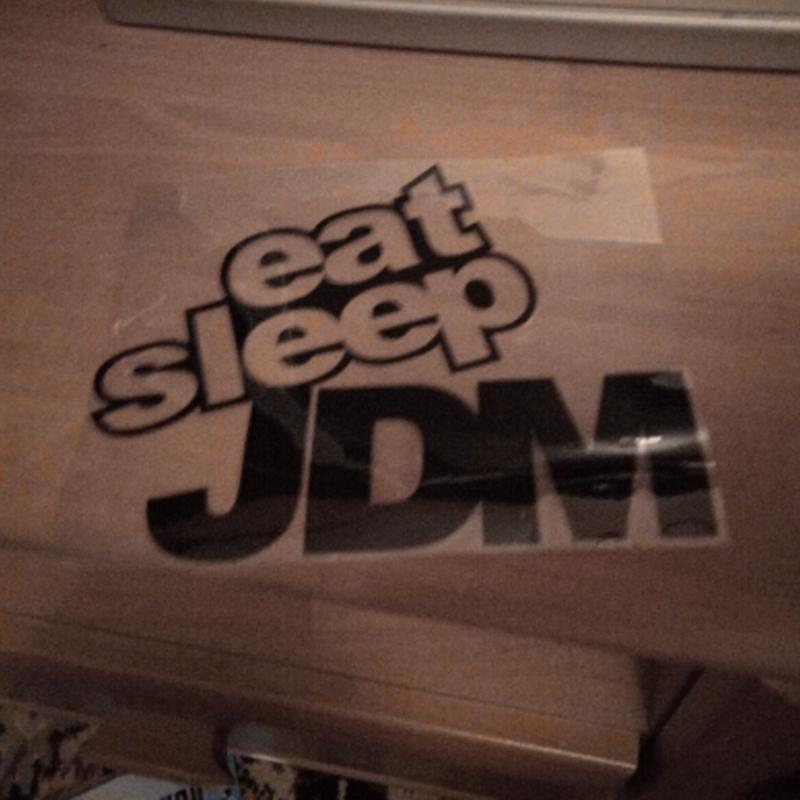 EAT SLEEP JDM Funny Car Sticker Vinyl Decal Motorcycle Body Car Styling 15*12CM