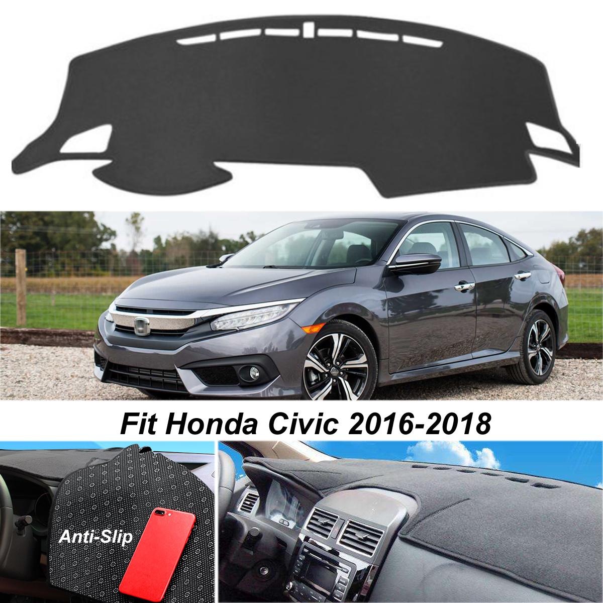 Dashmat Dash Cover For Honda Civic 2016-2018 Mat Dashboard Pad Car Carpet
