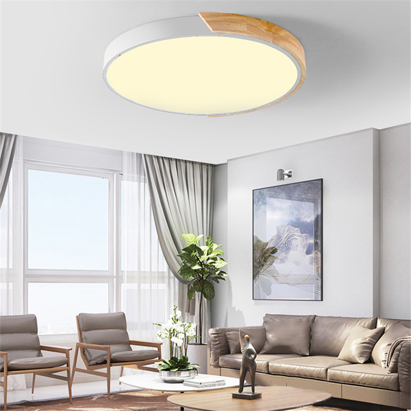 Details about Nordic Ultra-thin Round LED Flush Mount Ceiling Light Bedroom  Lighting Fixture