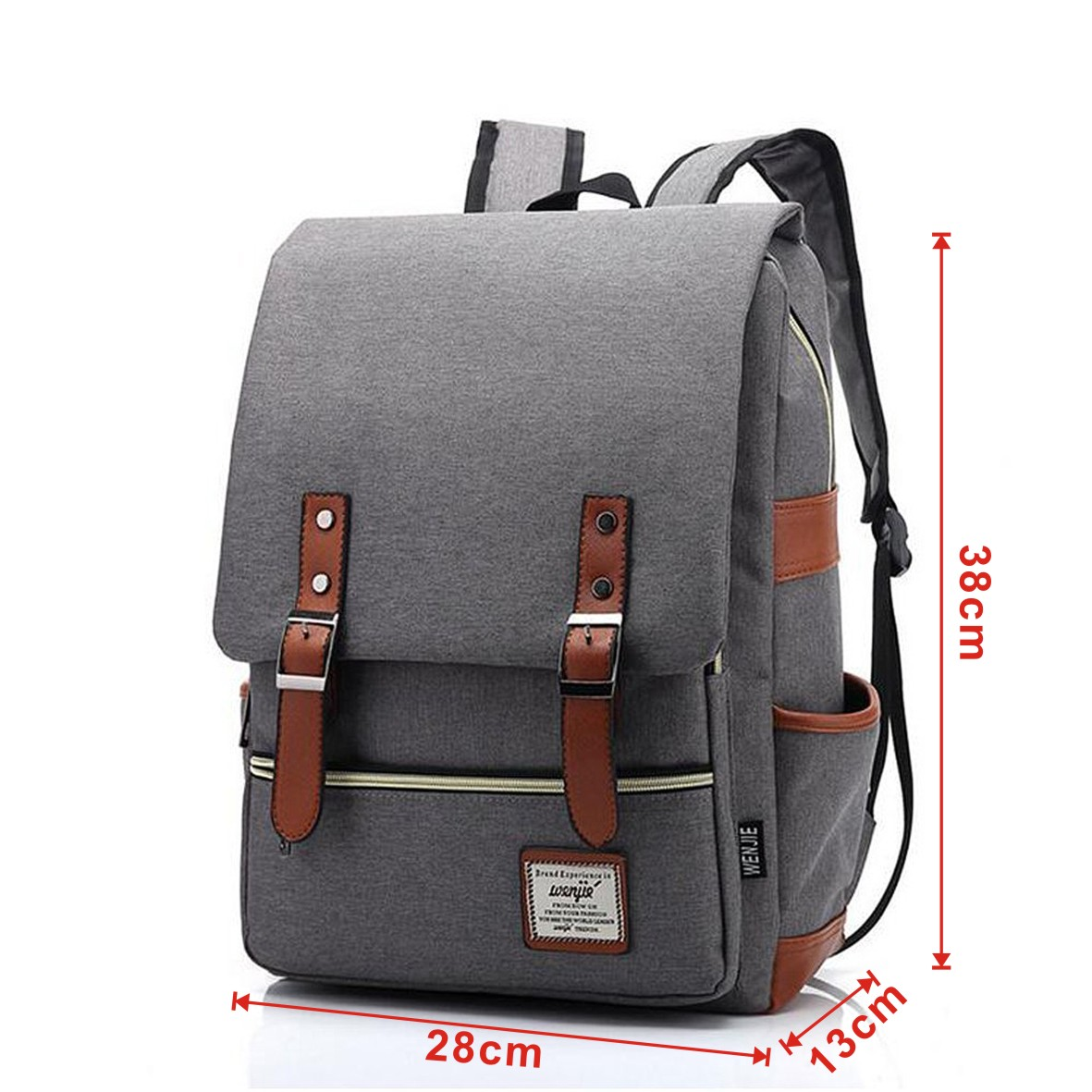 36c58467a67 UK Women Men Shoulder Canvas Backpack Rucksack School Book Travel College  Bag