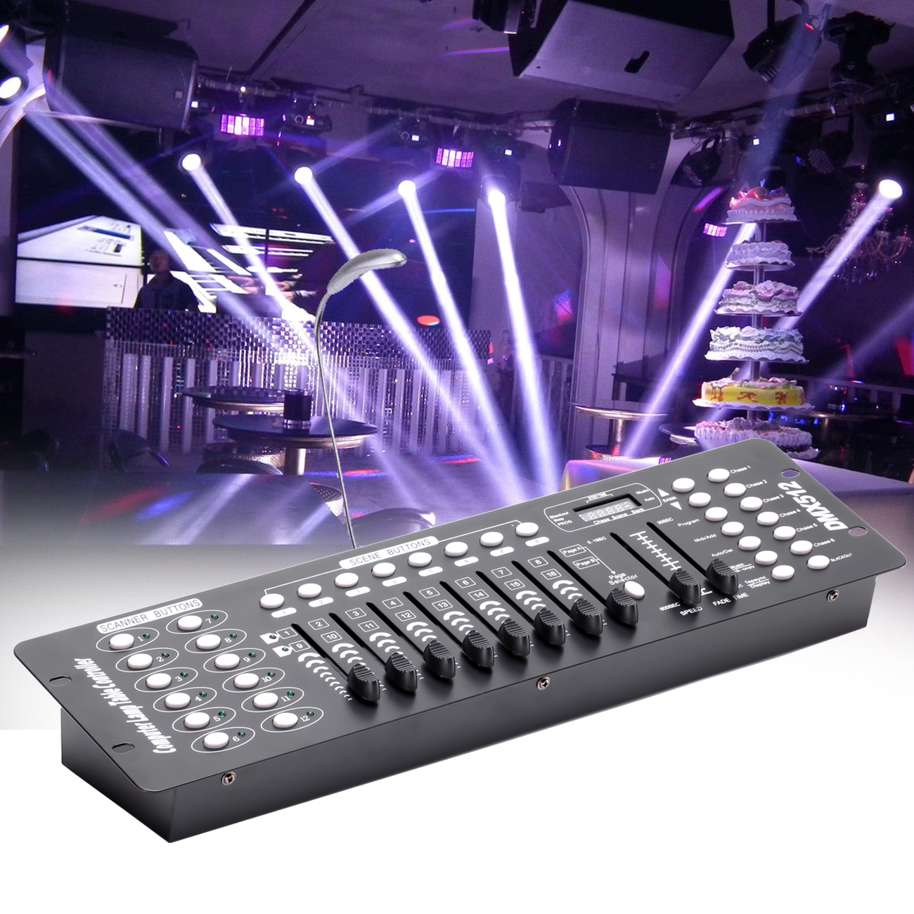 Details About 192 Dmx Channels 512 Stage Light Controller Console Disco Party Theater Club
