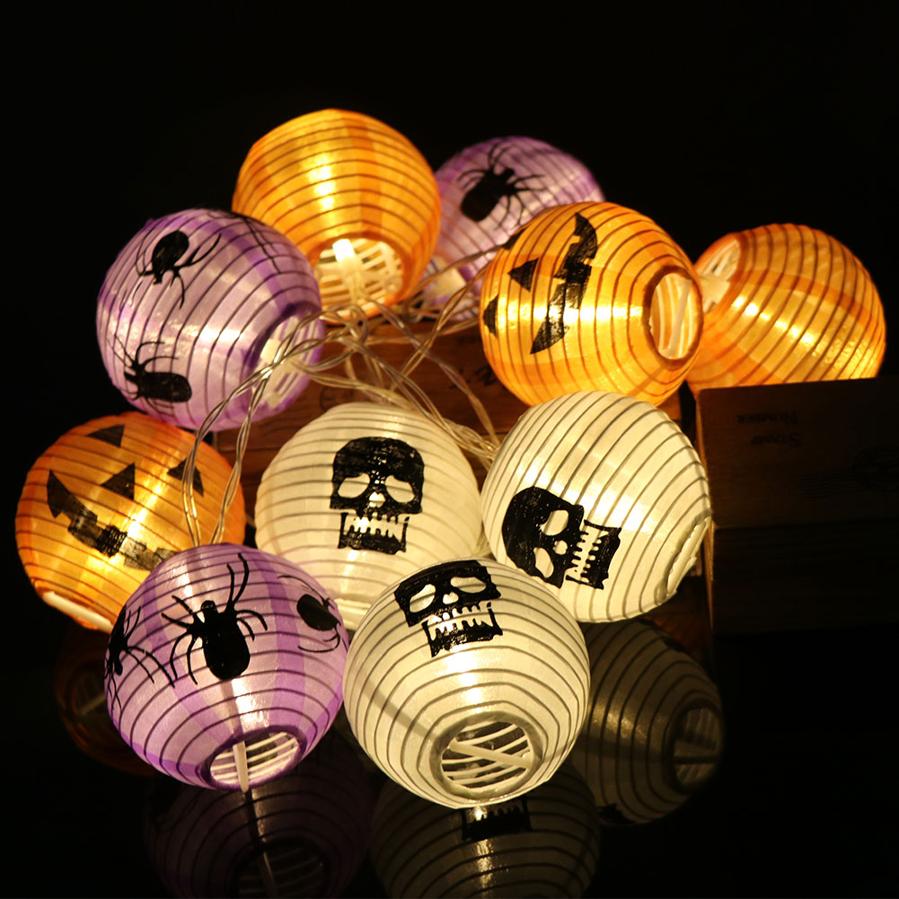 sale retailer 66378 646f5 Details about Pumpkin Lights Lanterns Halloween String Lights 10 LED Fairy  Lights Indoor Decor