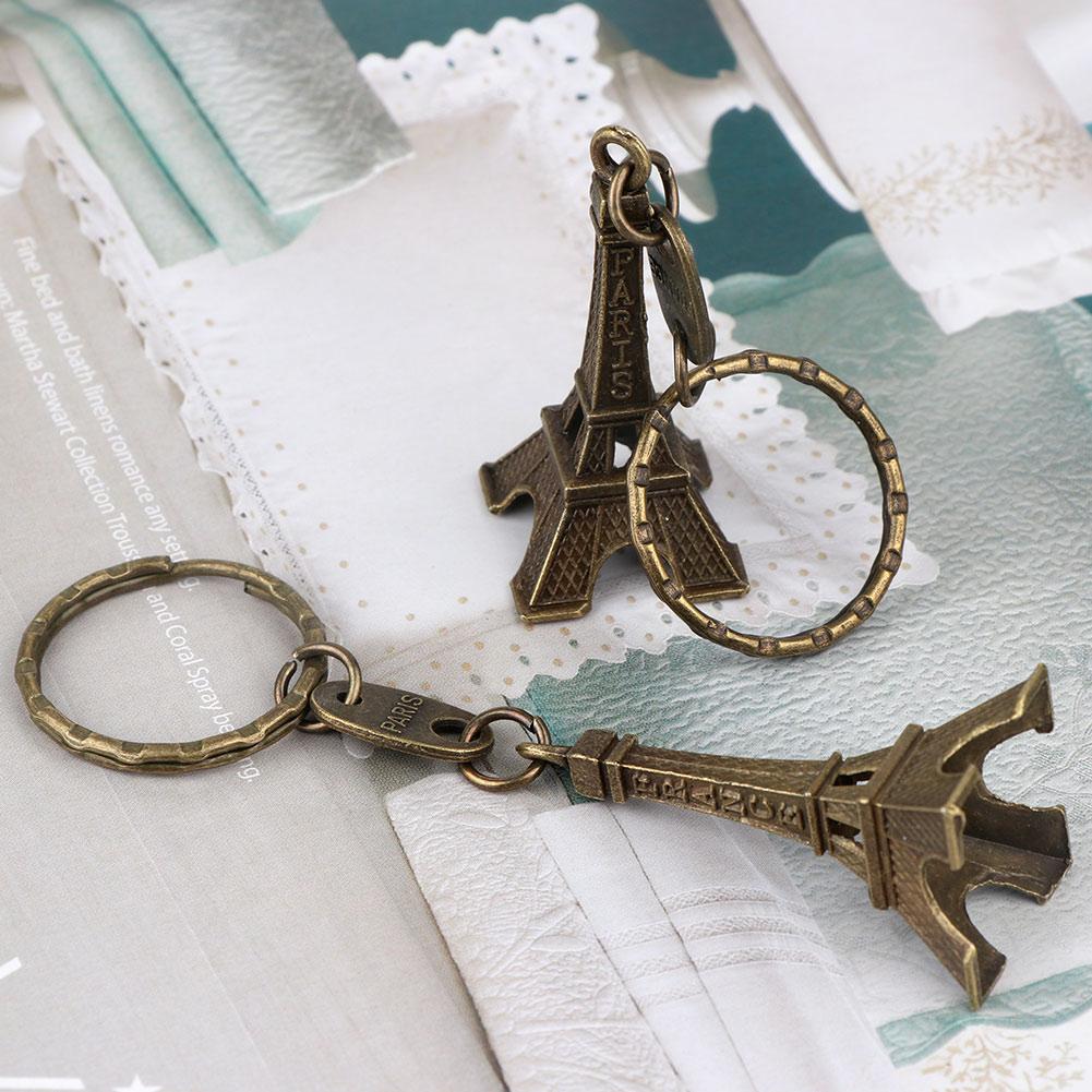 10PCS 3D Paris Eiffel Tower Keychain With Tag Card Gift Souvenir ...