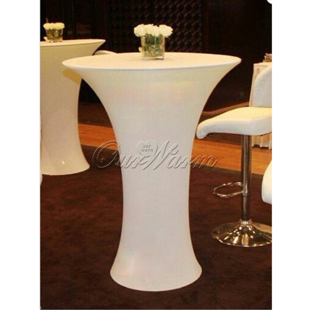 Lycra Stretch Cocktail Poseur Table Cover Spandex Tablecloth Bar Bistro  Wedding