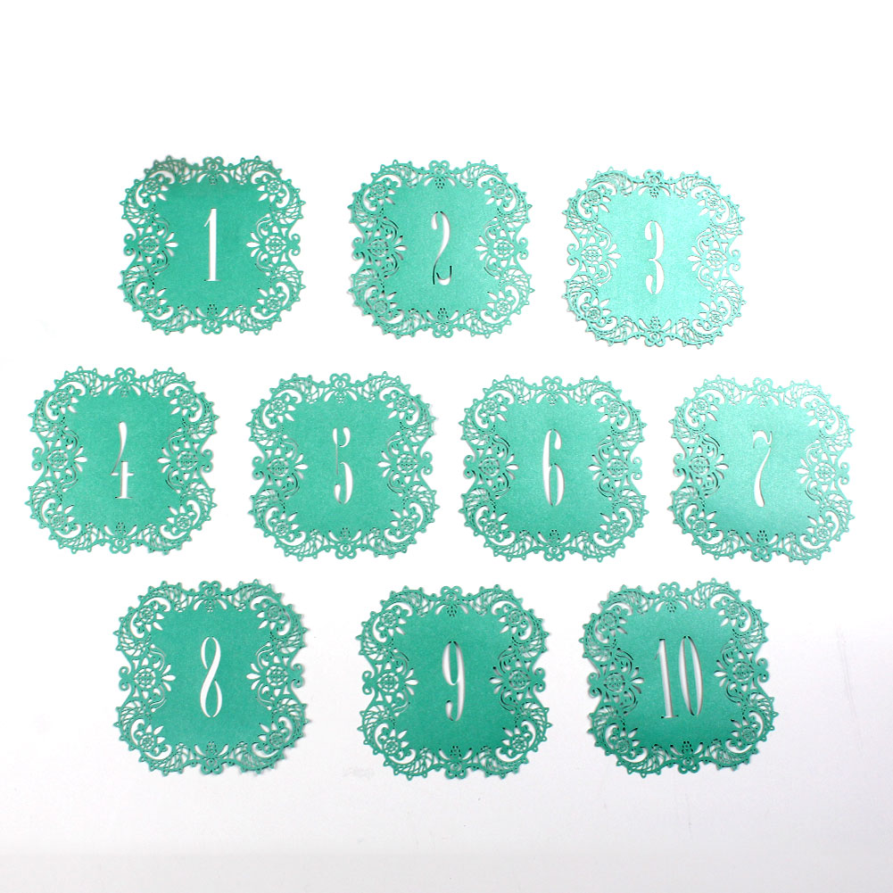 10×Numbers 1-20 Elegant Table Cards Wedding Reception Number Signs ...