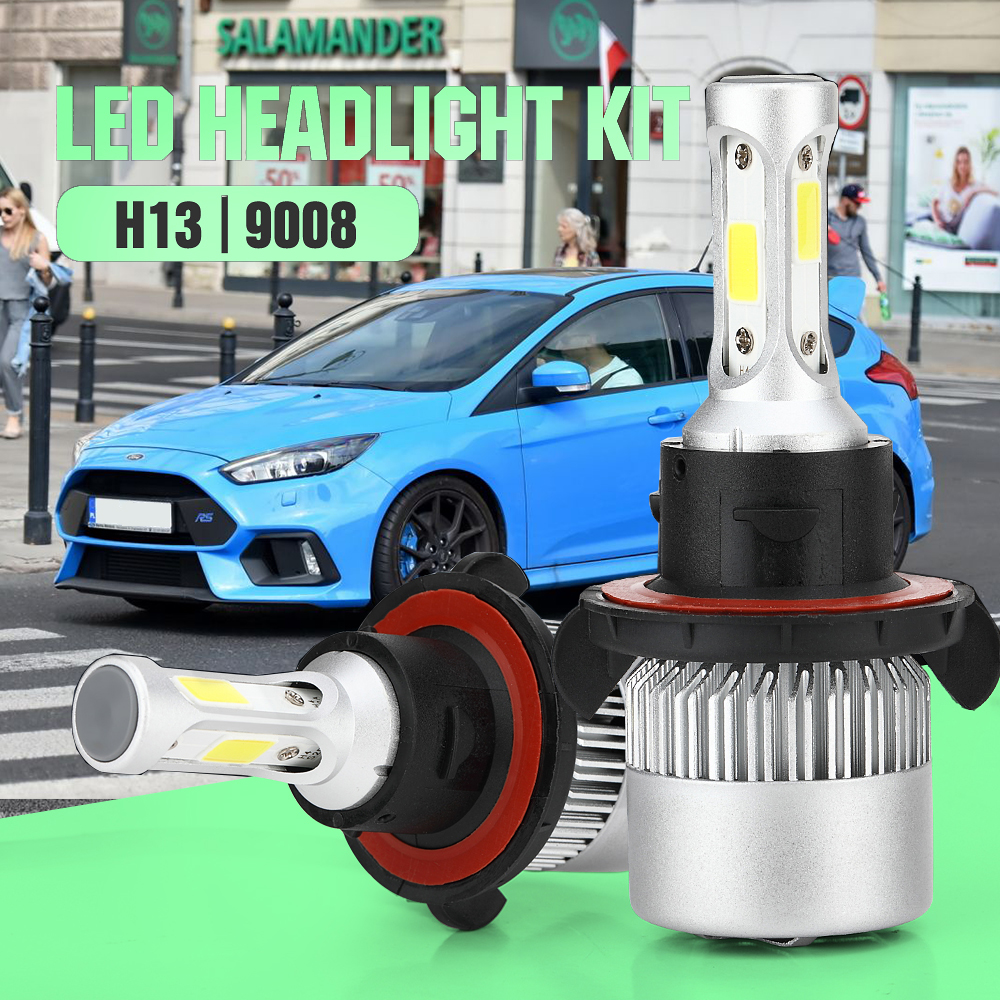 Details About H13 9008 Led Headlight Bulb For Ford Focus 08 2011 Flex 09 2018 Mustang 08 12