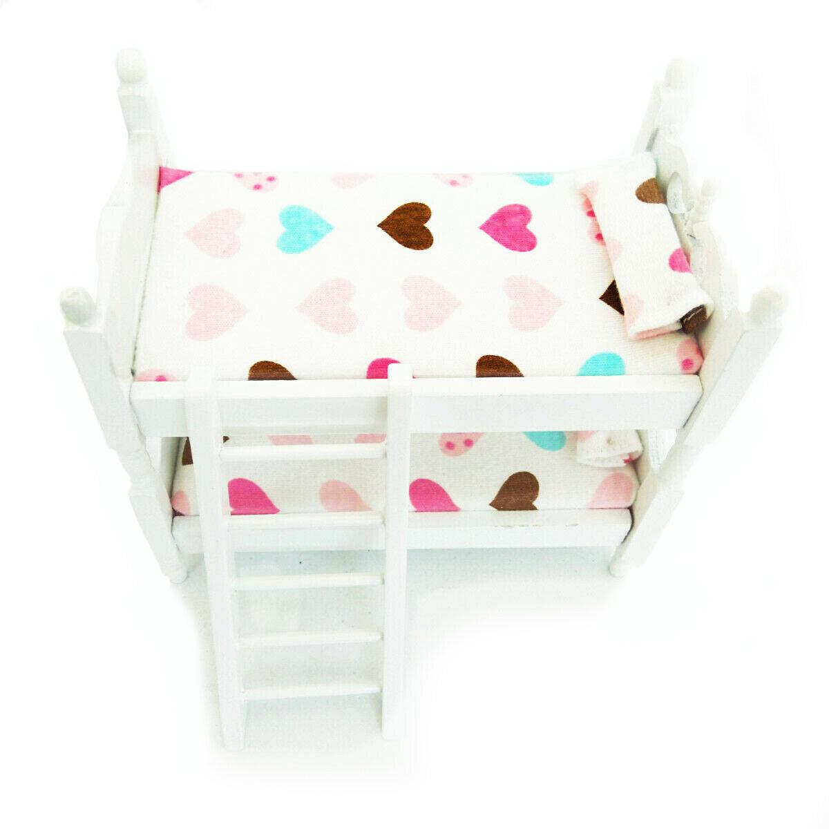 Details about Miniature Children Bedroom Bunk Bed Dollhouse 1:12 Furniture  Accessories B