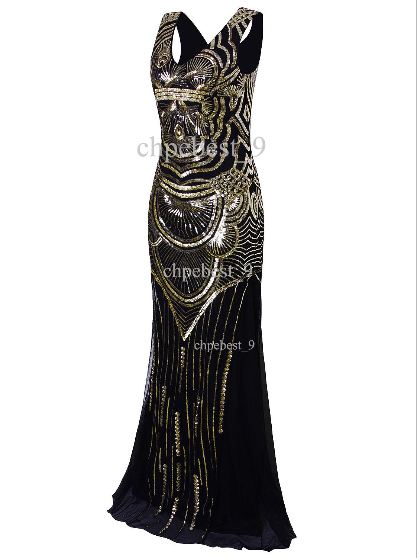 Ball Gown 1920s Flapper Dress Gatsby Party Wedding Evening