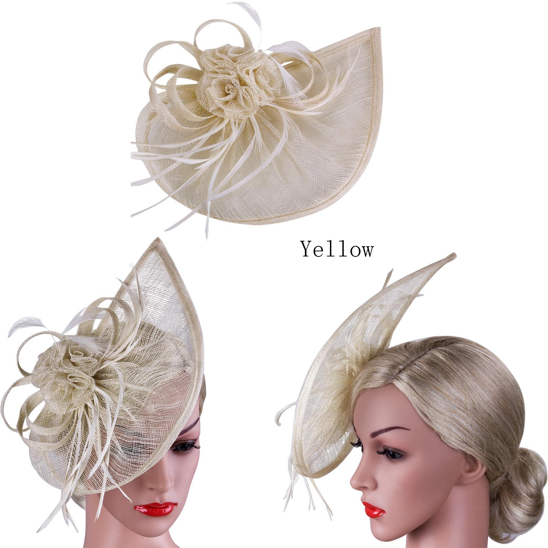 NUOVA Grande Cerchietto E Clip Fascinator con Cappello Matrimoni Gare Donna Giorno Royal Ascot