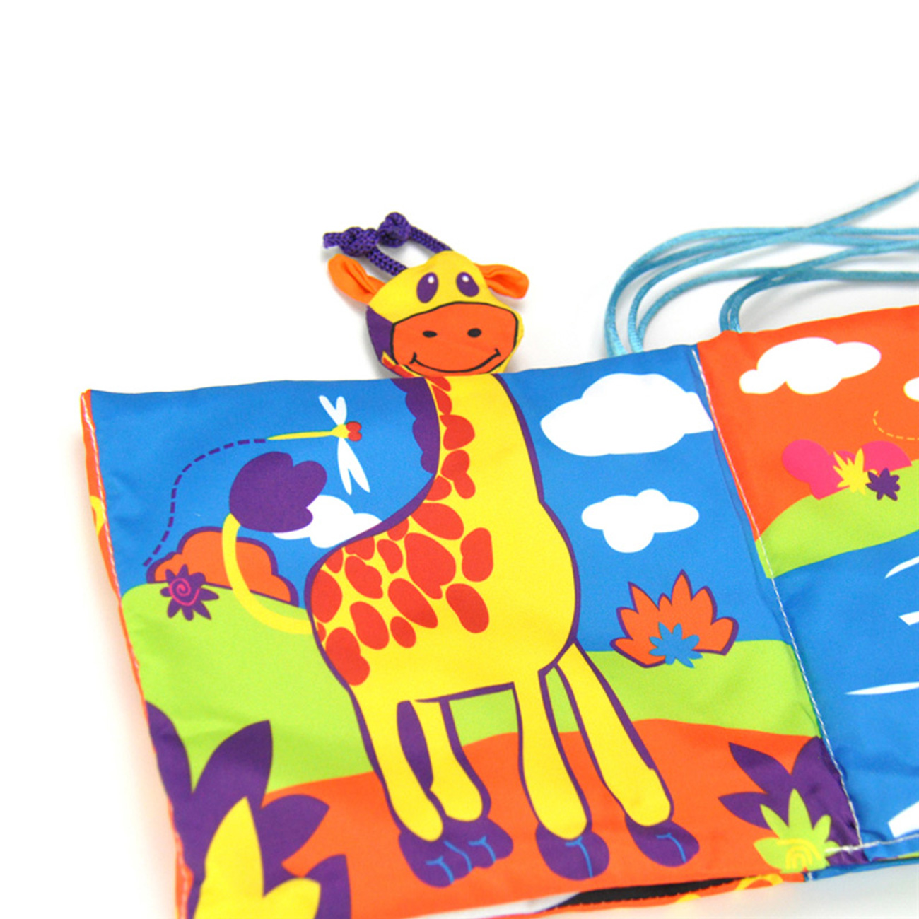06b8a8b38 Double Color Colorful Infant Cloth Book Baby Toys Bedding Around Bed ...