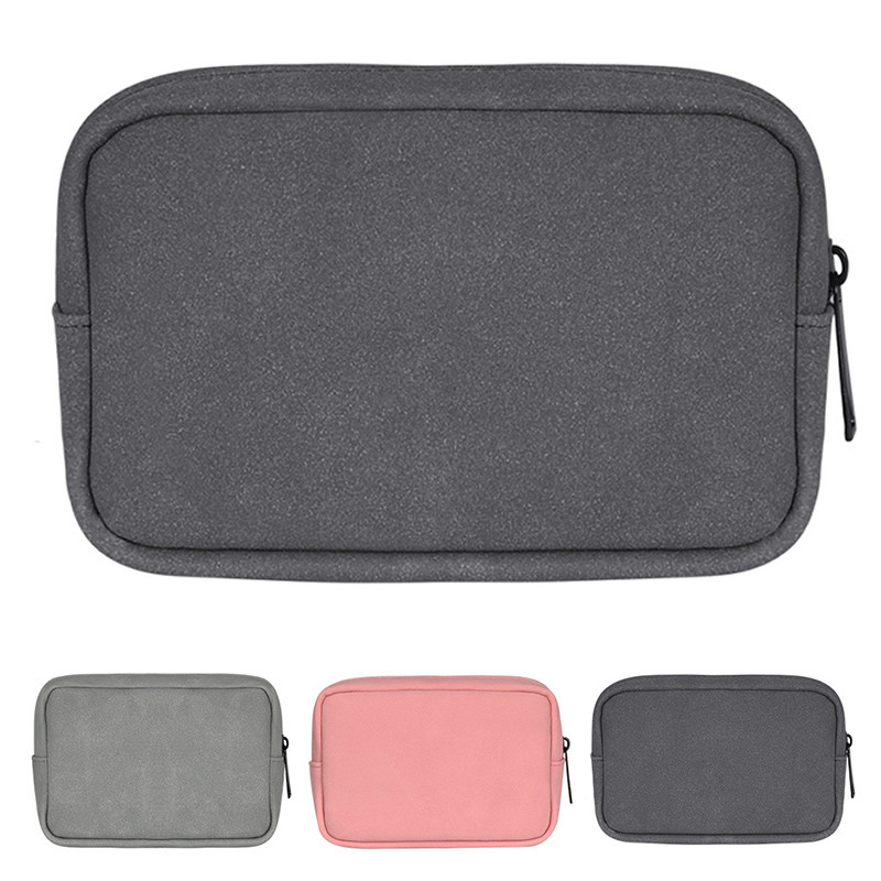 SSD HDD Enclosure Cellphone YOUPECK MacBook Power Adapter Case Storage Bag Power Adapter Portable Storage Pouch Bag Case Accessories Organizer for MacBook Laptop Mouse Power Bank Cables Black