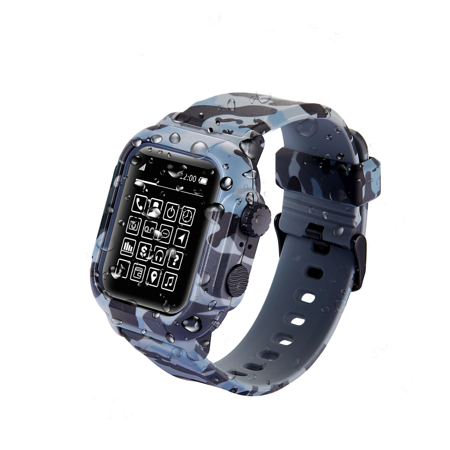 new arrival a4b91 0911a Details about Waterproof Sport Silicone Case Band Strap For Apple Watch  Series 4 3 2 42mm 44mm