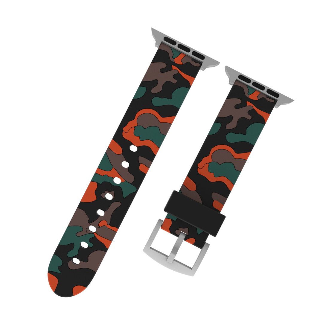 Details about Sports 38/42/40/44mm Camo Silicone Bands Strap Rubber  WristBand For Apple Watch