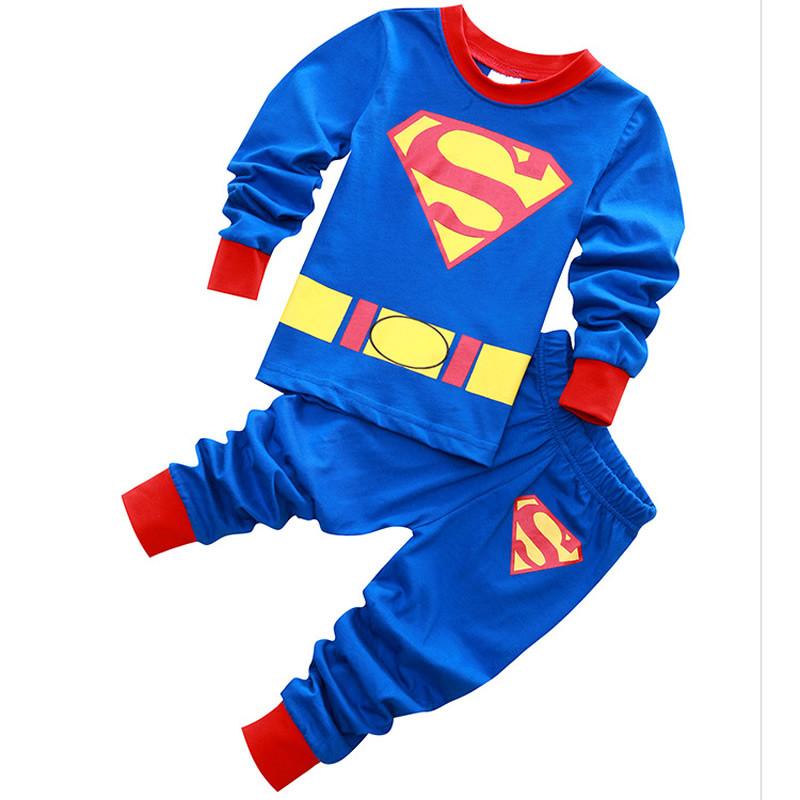 bc8bd57fd7 Cartoon Baby Boys Kids Outfit Set Sleepwear Costume T-shirt + Pants Pajama  2-7Y
