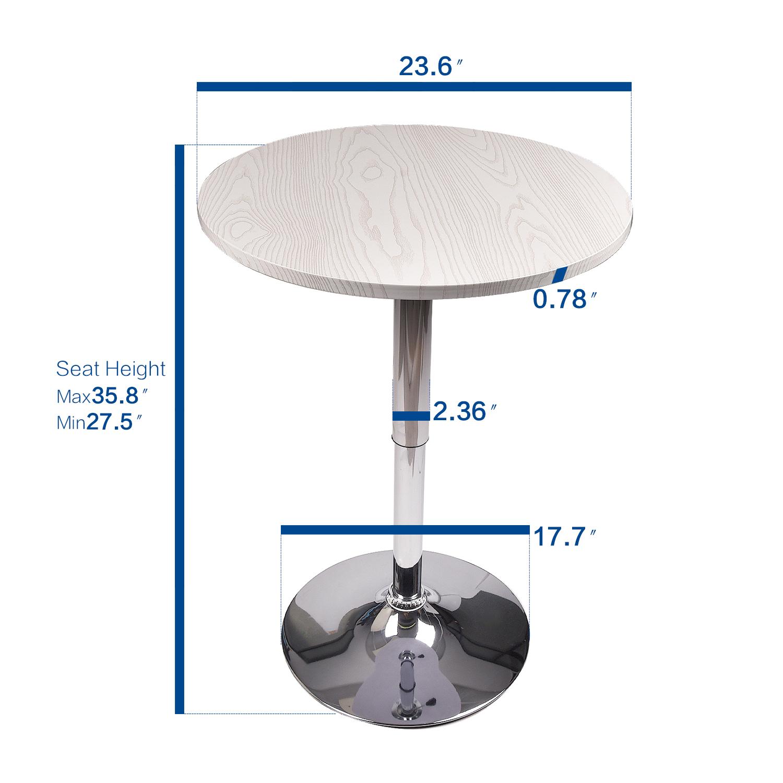 Sensational Details About 3 Piece Pub Table Set Bar Stool Dining Chairs Adjustable Counter Height Kitchen Machost Co Dining Chair Design Ideas Machostcouk