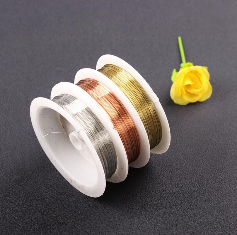0.2-0.8mm Jewelry Making Beading Cord Copper Wire Findings Thread Necklace