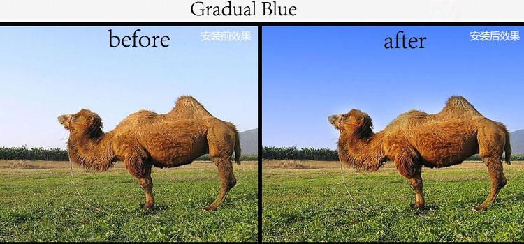 58mm 9 Graduated Gradual Color Filter kit set for Canon Nikon Sony Sigma Tamron