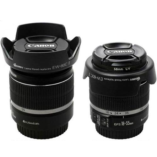EIRMAI EW-60C II Lens Hood Replaces for Canon EOS 450D 500D 550D 600D 650D 1100D 1200D 1300D