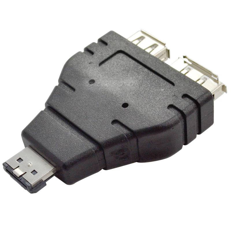 eSATA+USB combined cable to eSATA Male and USB A type