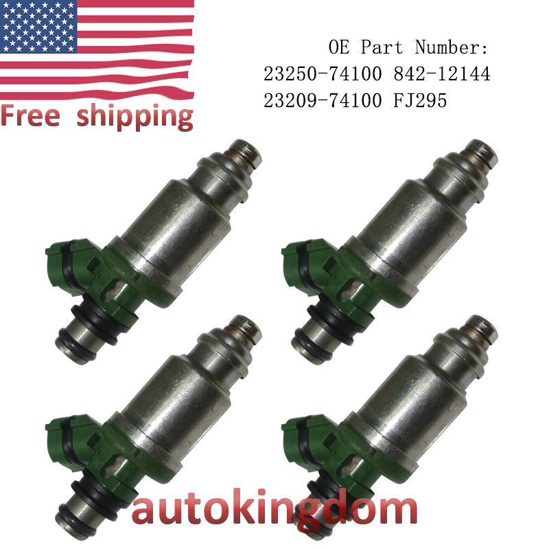 Set of 4 Fuel Injectors 23250-74100 For Toyota Solara Camry Celica MR2 RAV4 2.2L