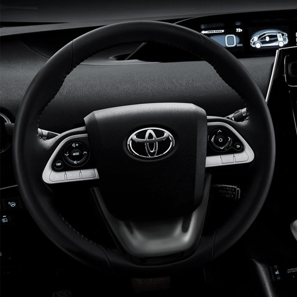Details About Black Car Steering Wheel Panel Cover Trim For Toyota Prius Plug In Hybrid 2017