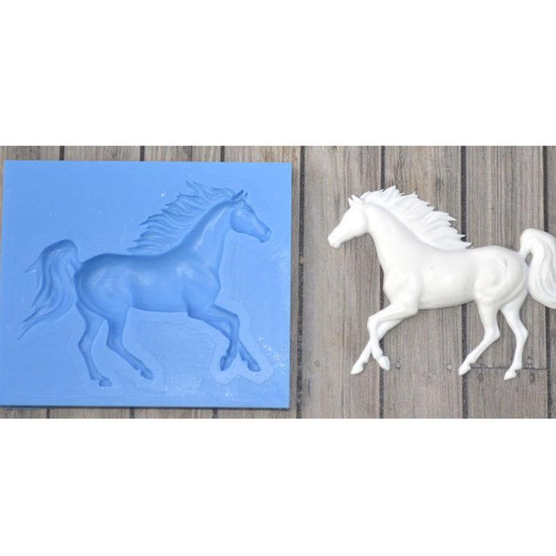3D Cheval Horse Animal Fondant Moule En Silicone Gâteau Chocolat Décoration Outil Moule