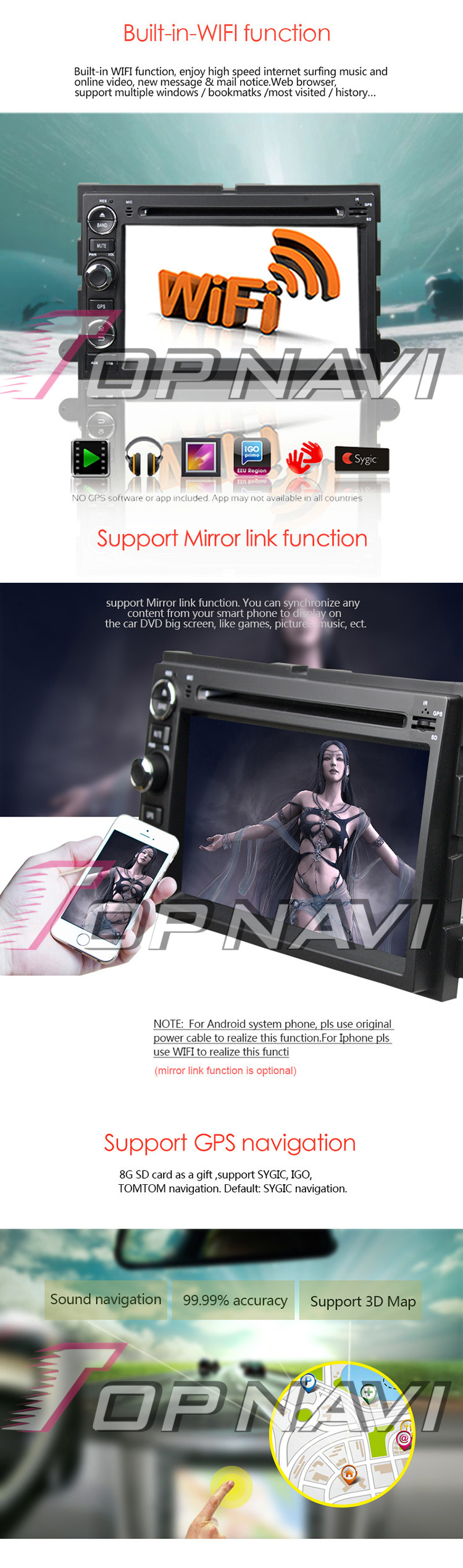 Details about 2+32GB Android 8 0 Car DVD Stereo GPS For Ford  Fusion/Explorer/Escape/Freestyle