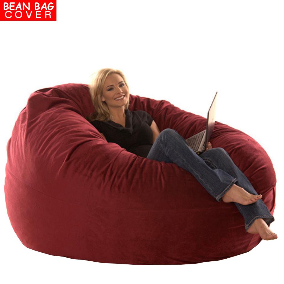 Giant Luxury Bean Bag Chair Micro Suede Sofa Cover R Lounger Cushion Ebay