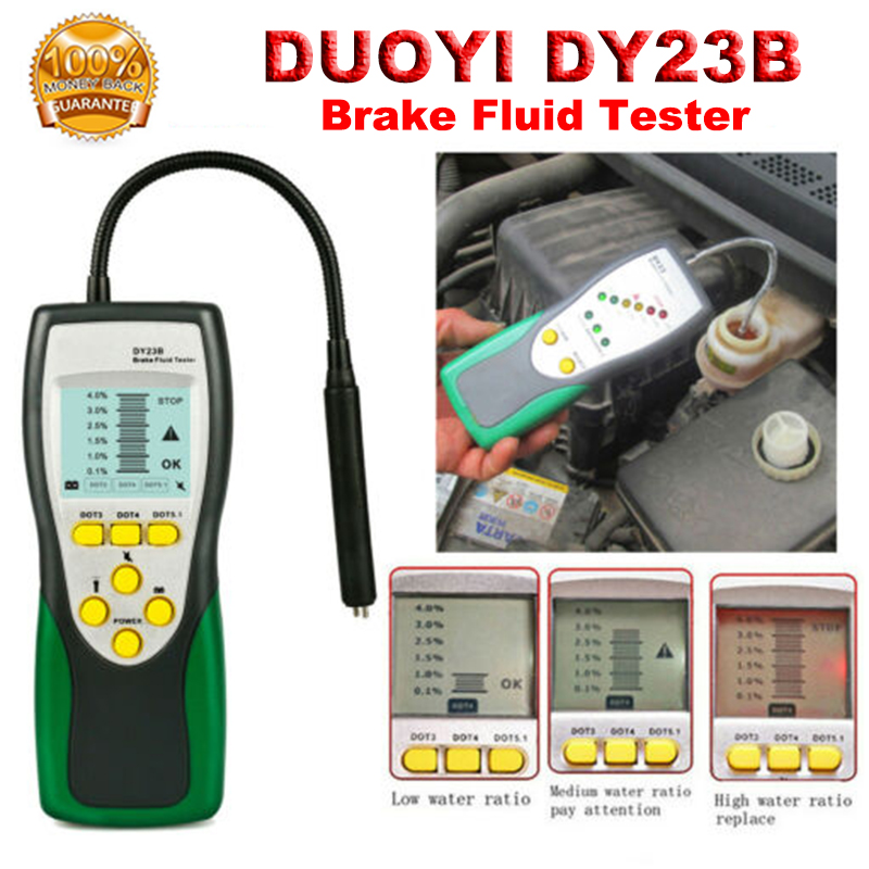 DUOYI DY23B Automotive Brake Fluid Tester Oil Inspection Check For DOT 3 4 5