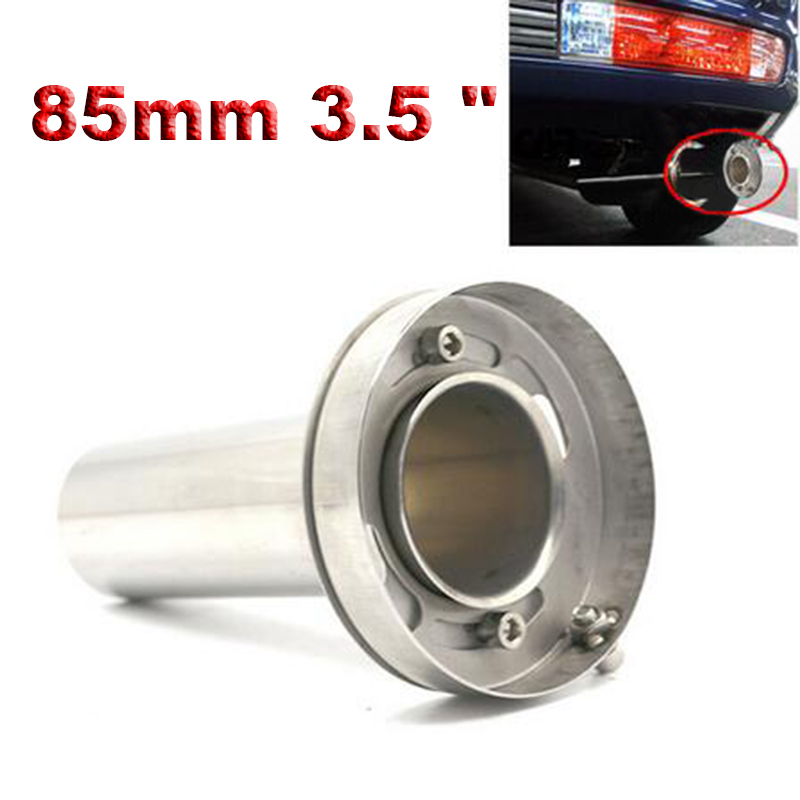 Stainless Steel Round Exhaust Tip Universal Adjustable Removable Exhaust Muffler Tip Sound Silencer 3.5 Inch