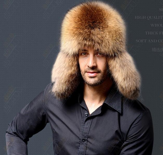 Cappello da uomo invernale in pelliccia donna Cappello da uomo in con  pelliccia 40076b182db9