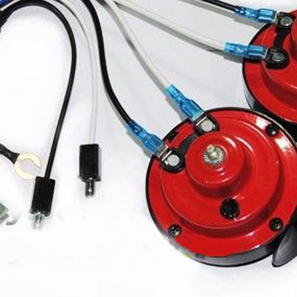 Red 12v Grill Mount Super Loud Horn Kit Harness Fit Subaru Impreza 2000 Wiring Wrx Sti Brz