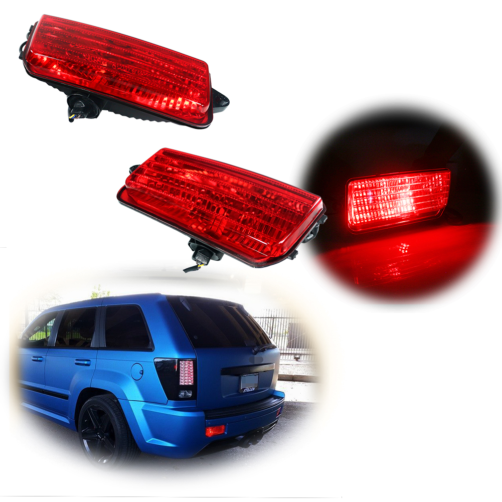 Tail Brake Stop LED Lights for Jeep Grand Cherokee 2005-2018 2019 6000K Bulbs