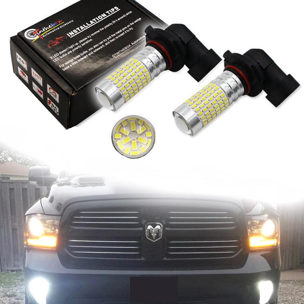 LED Upgrade Fog Light 6K White Bulbs For 2003-18 Dodge RAM 1500 2500 3500 2Pcs