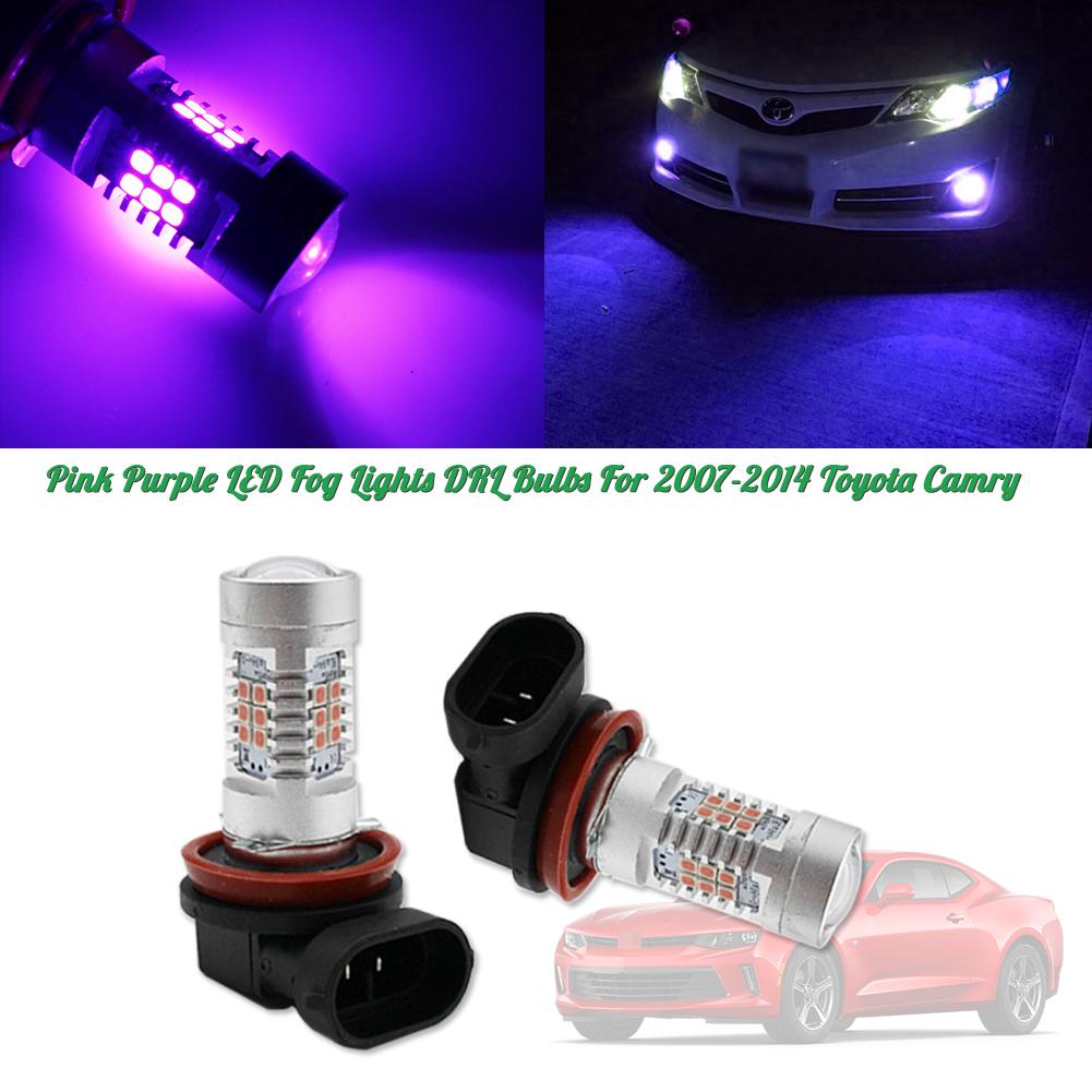 Super Bright Ultra Blue 68-SMD H11 LED Bulbs For DRL Driving Fog Lights